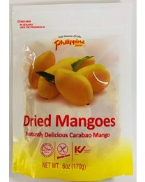 Philippine Brand Dried Mango Strips Candy, 170 g, Pack of 5