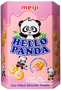 Meiji Hello Panda Biscuits with Creamy Strawberry Filling 260 G