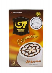 Trung Nguyen G7 Instant Coffee Cappuccino Mocha 12 Sachets 216g