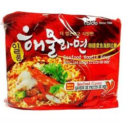 Paldo Korean Spicy Seafood Flavour Noodle Soup 120g x 5 packs (600G)