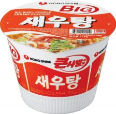 Korean Nong Shim Shrimp Flavour Noodle Big Bowl - 16 Bowls x 115g