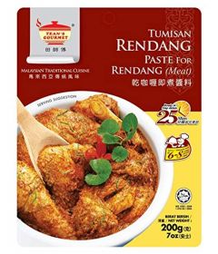 Tean's Gourmet Traditional Rendang Dry Curry Paste for Meat, 200 g