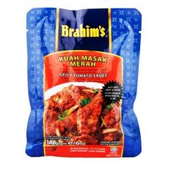 NT# Brahim's Sauce - Spicy Tomato 180g -A Spicy Ready-to-Cook Sauce for Meat with Coconut Milk, Tomato Paste and Ginger.