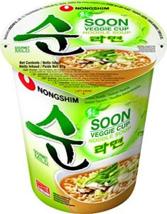Nongshim Soon Veggie Vegetables Ramen Cup 67g (12 Cups)