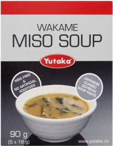 Miso Soup - 1 Box of 5 Single Portion Sachets by Yutaka