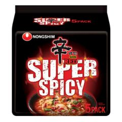 Nongshim Shin Red Ramyun Super Spicy 120g (Pack of 5)