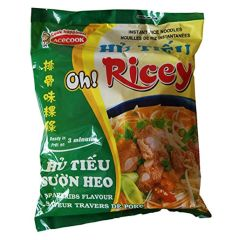Acecook Oh! Ricey Instant Rice Noodles Spare Rib Flavour - 24 Packets