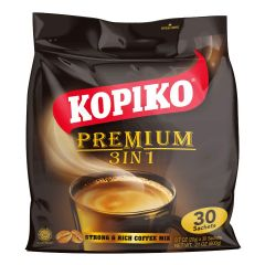 Kopiko Black 3 in ONE Strong & Rich Coffee Mix 10 Sachets (1 Pack)
