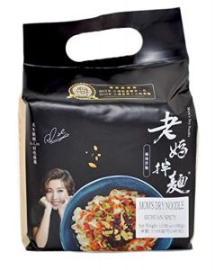 Mom's Dry Noodle Sichuan Spicy Flavour 101g (Pack of 4)