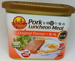 Golden Bridge Gluten-Free Pork Luncheon Meat Original 340g