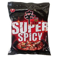 Nong Shim Shin Red Noodle Ramyun - Super Spicy (Pack of 15)