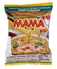Mama Instant Noodles Pork Flavour, Pack of 30 (30 x 60 g)