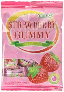 Cocon Gummy Strawberry Jelly Sweets 100G (Pack of 3)