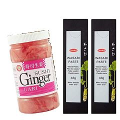 Pickled Pink Sushi Ginger and Wasabi Paste