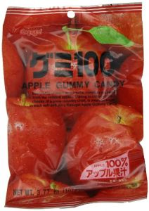 Kasugai Japanese Apple Gummy Candy 107 g (Pack of 2)