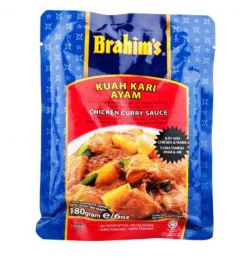 NT# Brahim's Curry Sauce - Chicken 180g -A Coconut Curry Ready-to-Cook Sauce with chilies, grated Roasted Coconut, Garlic and Selected Spices.