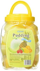 Cocon Mini NATA de Coco Assorted Pudding 40-Pieces Jar 1.4 kg