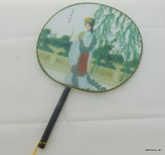 Traditional Chinese Culture Painting Hand Fan - Beauty from Heaven