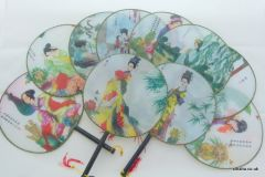 Traditional Chinese Culture Painting Hand Fan - 10 designs (10 pieces)