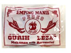 Labu Emping Manis Pedas (Spicy Indonesian Sweetened Crackers) uncooked 280G