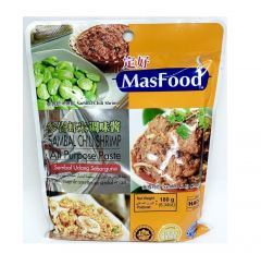 MasFood Sambal Chili Shrimp All Purpose Paste 180G