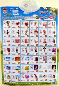 Chinese Audio Touch Button Poster - Basic Chinese Words
