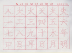 Magic Water Cloth for Chinese Calligraphy - ren