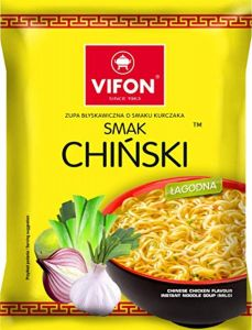 Vifon Chinese Chicken Flavour Instant Noodle Soup Mild 70 g (Pack of 24)