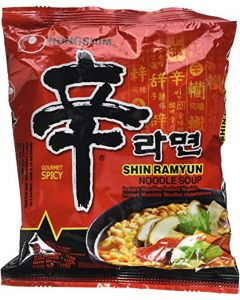 Nong Shim Shin Ramyun Noodle Soup (Hot And Spicy) 120g (Pack of 5)