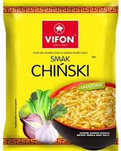 VIFON Chinese Chicken Instant Noodles - 70G - Mild (Pack of 24)