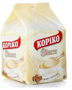 Kopiko Blanca Creamy Coffee Mix 10 Sachets (1 Package)