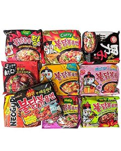 Korean Assorted Top Spicy Ramen Noodle Challenge (Pack of 10)