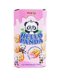 Meiji Hello Panda Strawberry Biscuits 50gm x 10