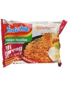 Indomie Instant Fried Noodles Spicy/Hot For 1 Case (30)