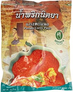 Nittaya Panang Curry Paste, 1er Pack (1 x 1 Kg Bag)
