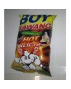 Boy Bawang - Hot Garlic Flavor Corn - 3 x 100 g / 3.54 oz - Cornick - Product of the Philippines by KSK Food Products