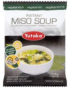 Yutaka Instant Miso Soup Vegetarian 7.5 g (Pack of 10)