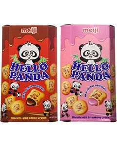 Meiji Hello Panda Chocolate, Strawberry Biscuit 2 Ounce Boxes (Pack of 10) by Meiji