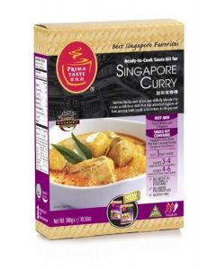 Prima Taste Singapore Curry Sauce Kit, 10.58-Ounce Boxes (Pack of 4) by Prima Taste