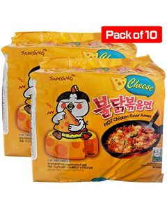Samyang Hot Chicken Buldak Ramen Noodle Cheese Flavor (Pack of 10)