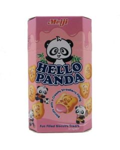 Strawberry Flavor, Meiji Hello Panda Strawberry Filling Biscuits (50g) Pack of 2 by N/A