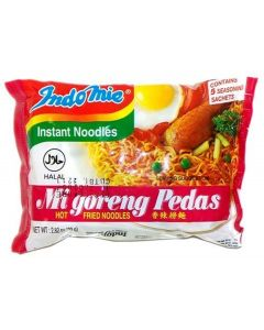 Indomie Instant Fried Noodles Spicy/Hot for 1 Case (30) by Indomie [Foods]