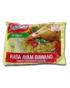 Indomie Instant Noodles Soup Onion Chicken Flavor for 1 Case (30 Bags) by Indomie