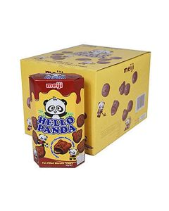 Meiji Hello Panda Chocolate Biscuits with Chocolate Flavour Filling 10 x 50g