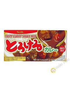 S&b Tasty Curry Sauce Mix Mild 200g 10 Serving