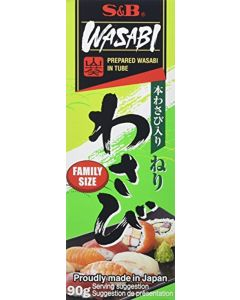 S and B Wasabi Paste Tube 90 g (Pack of 2)