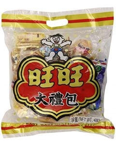 Want Want Rice Crackers Gift Bag, Mixed, 16.93 Ounce
