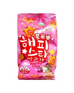 Yuki & Love Happy Star Rice Snack Strawberry Flavour 70g