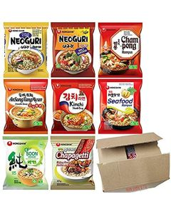 Nong Shim Instant Noodle Soup Ramyun Ramen Assorted Flavour (Pack of 10)