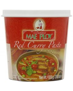 Mae Ploy Thai Red Curry Paste 1 Kg (Pack of 2)